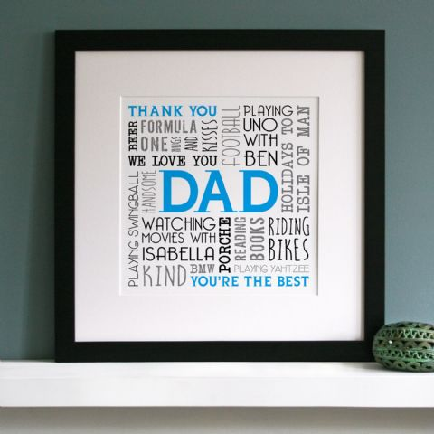 Personalised Memories Word Art